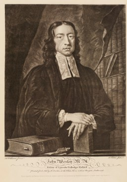 3. Engraving of John Wesley by John Faber, c.1741.