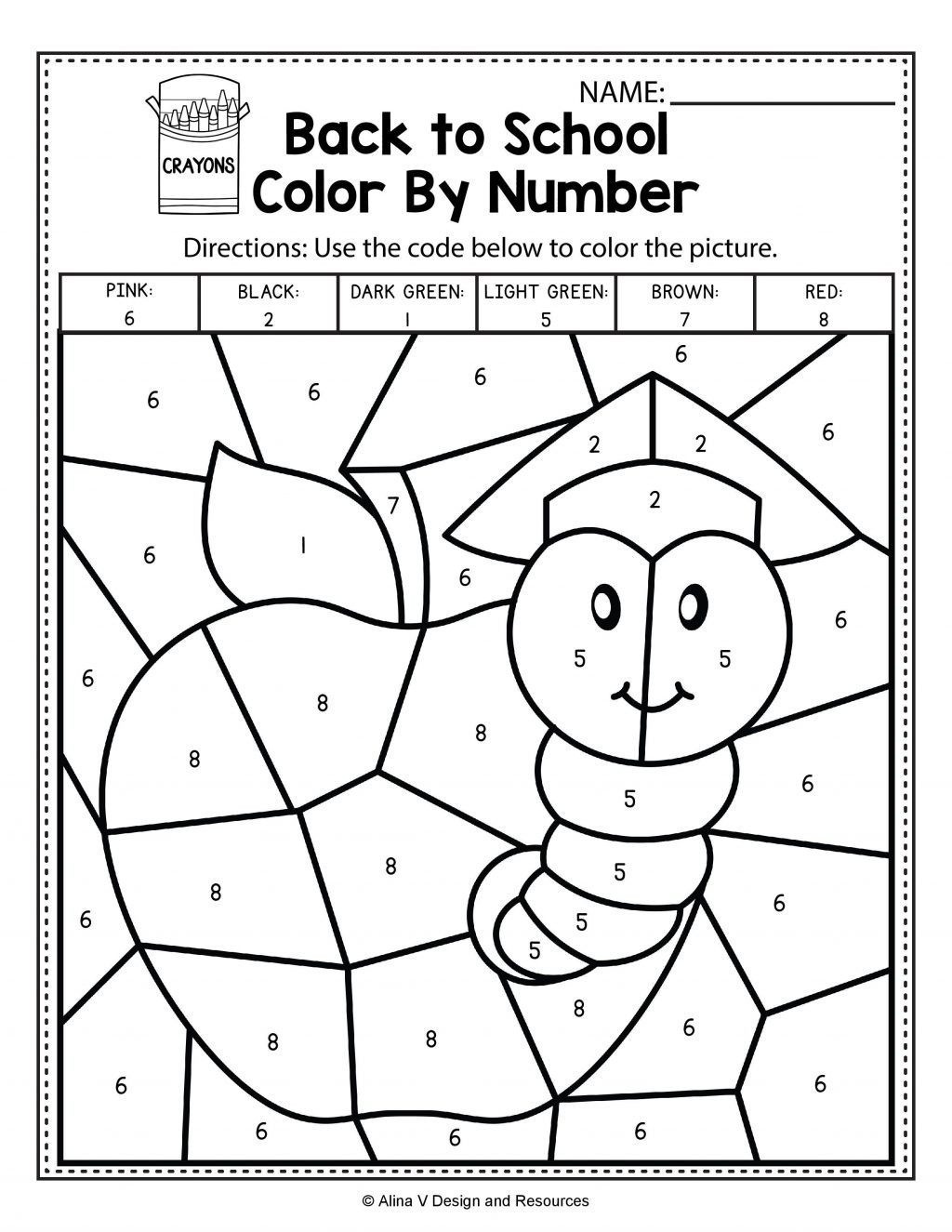 Fall Color By Number Worksheet Theme Library