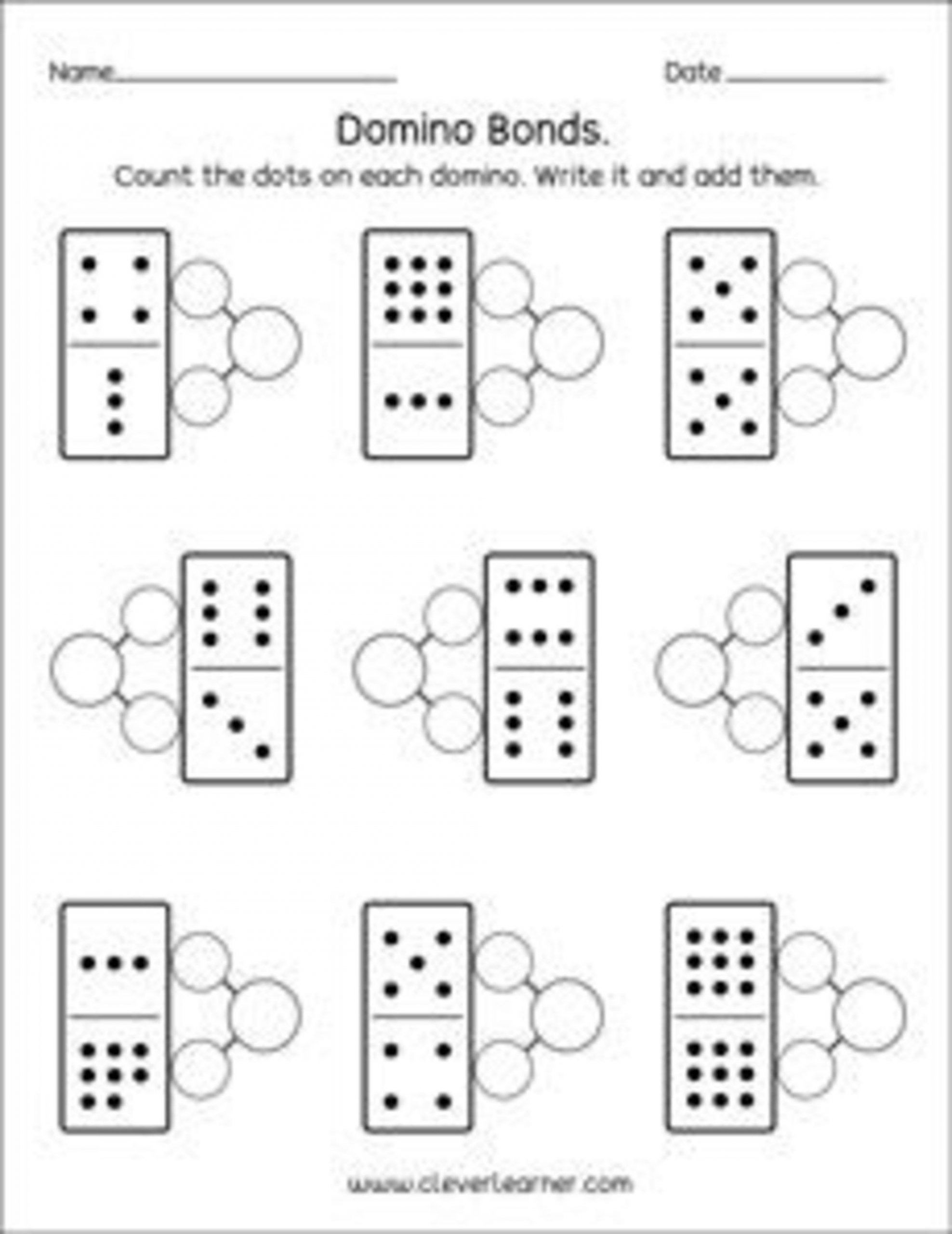 30 Number Bonds Worksheets Kindergarten