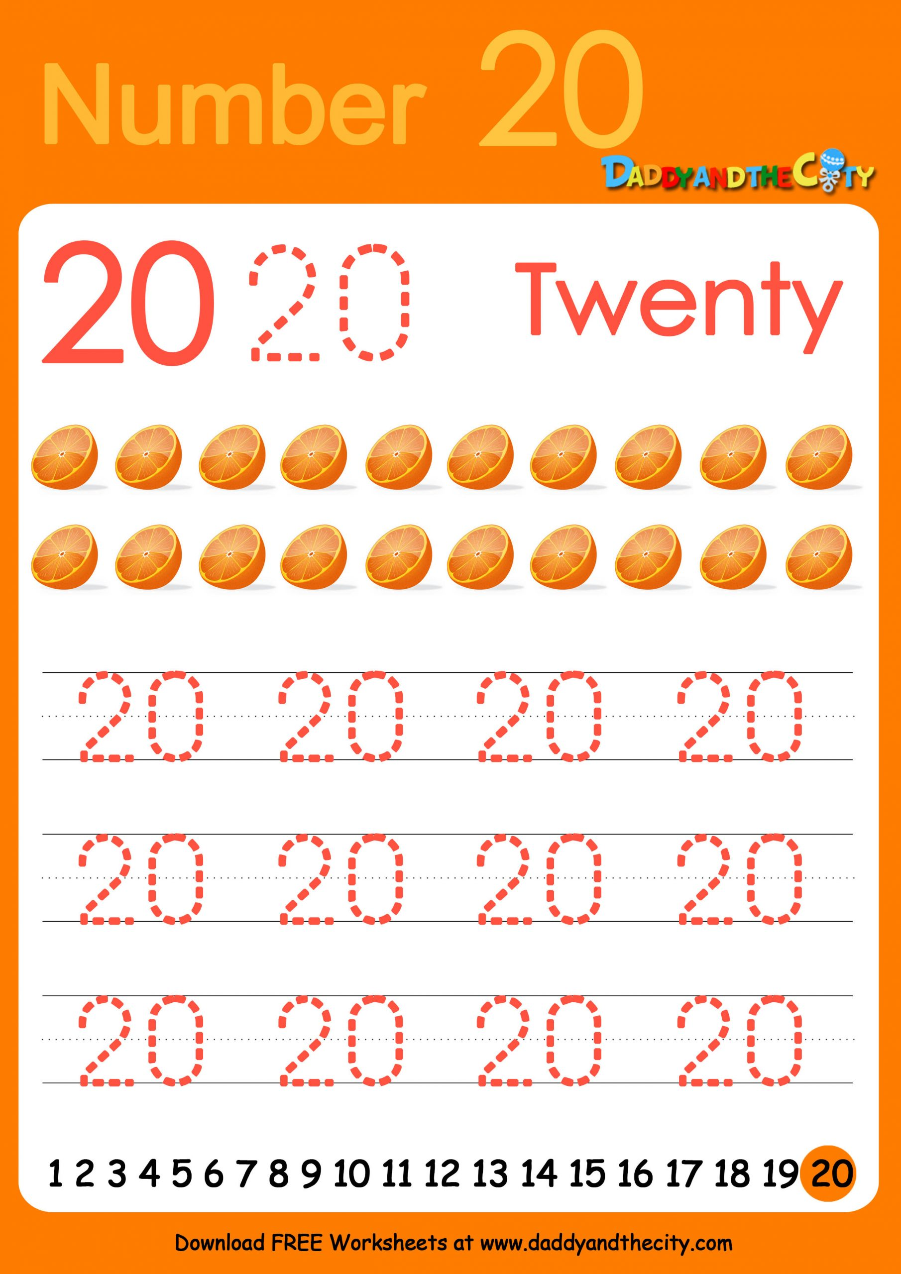 30 Tracing Numbers 11 20 Worksheet