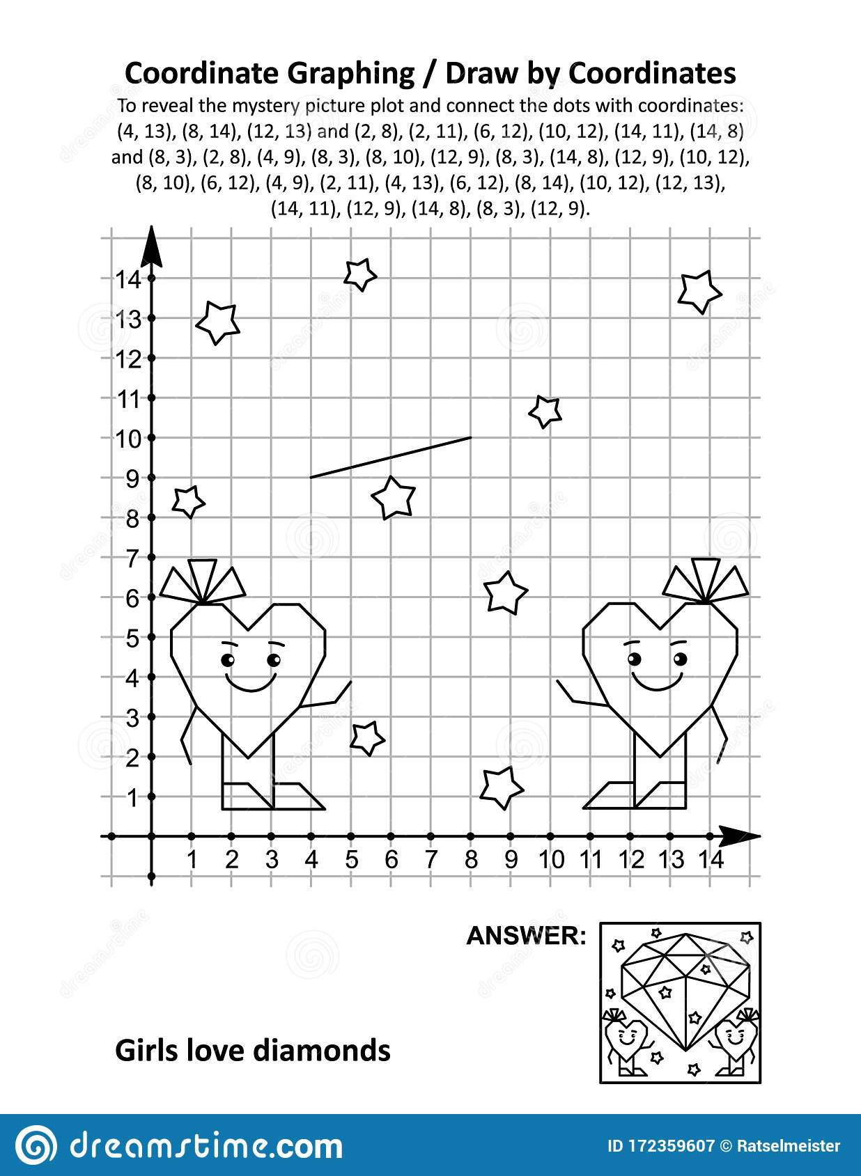 30 Candy Heart Graphing Worksheet