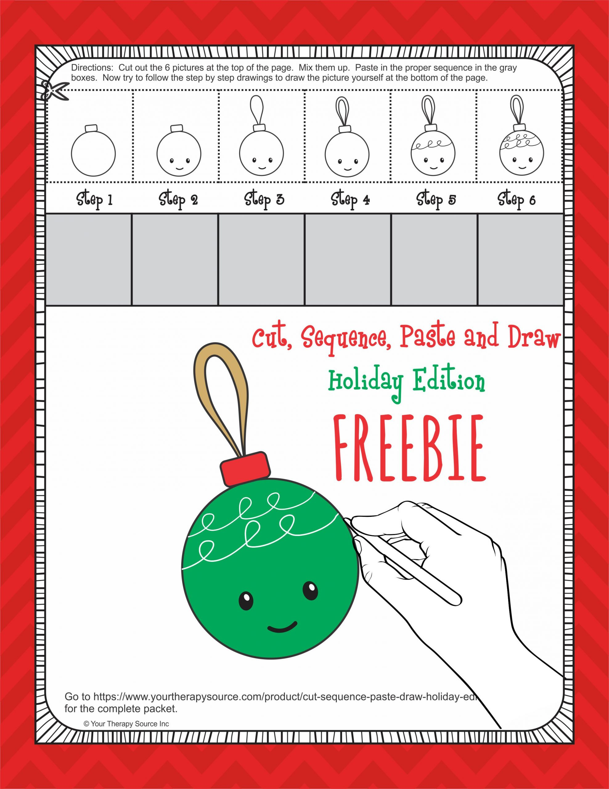 30 Christmas Cut And Paste Worksheets