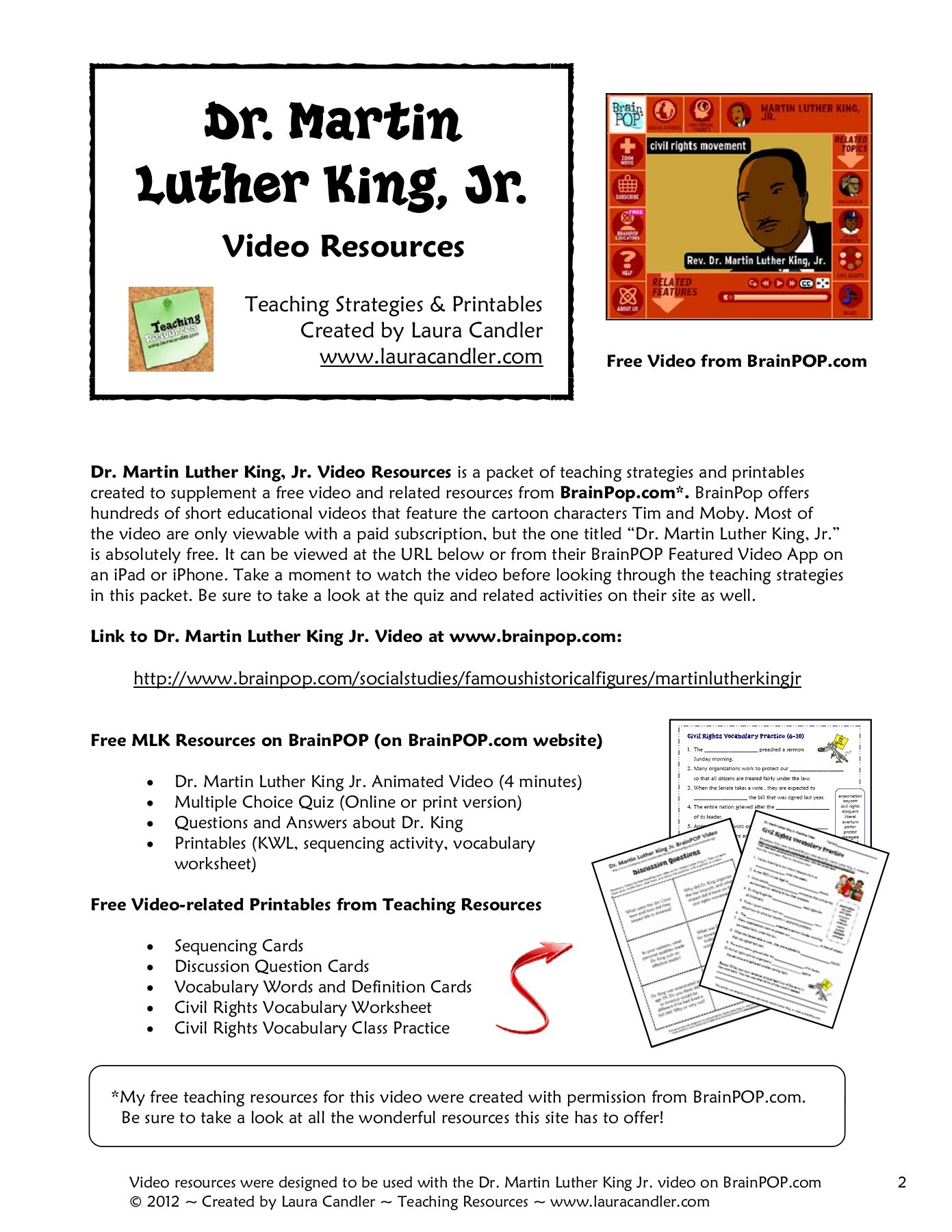 Civil Rights Worksheets Middle School Theme Library
