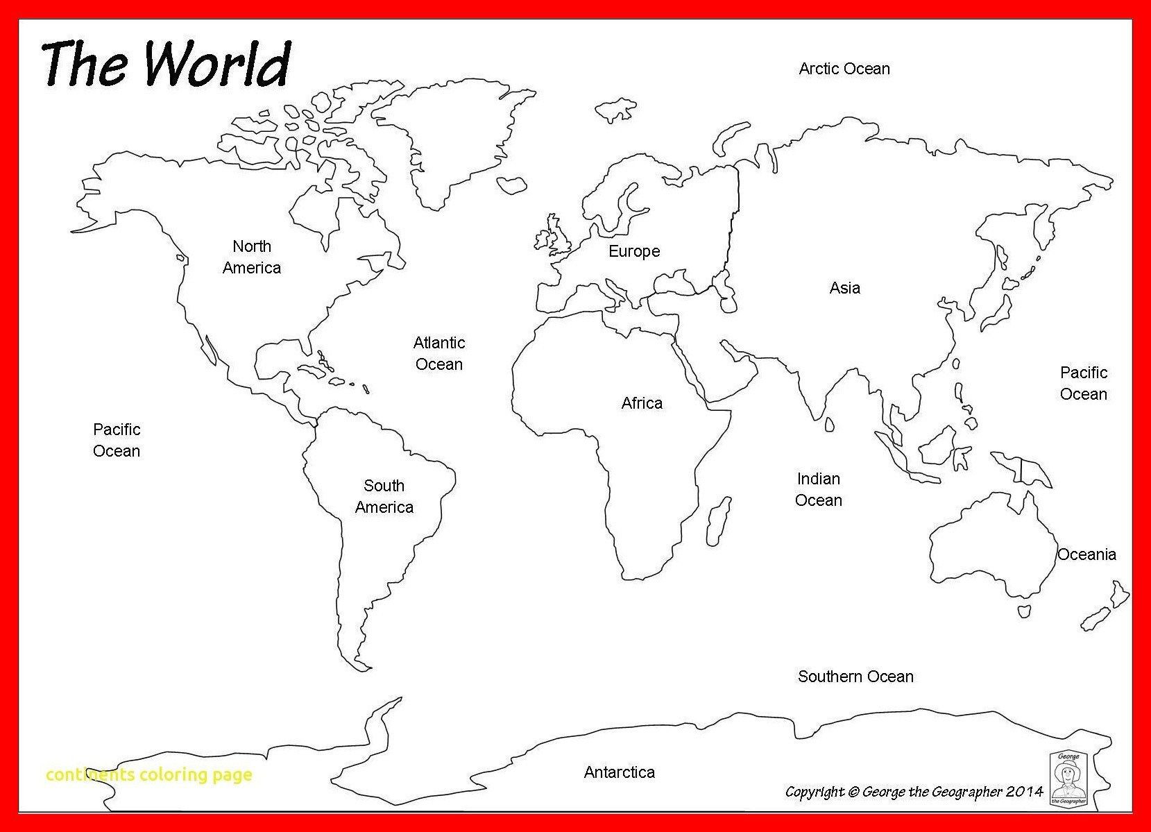 30 Continents And Oceans Map Worksheet