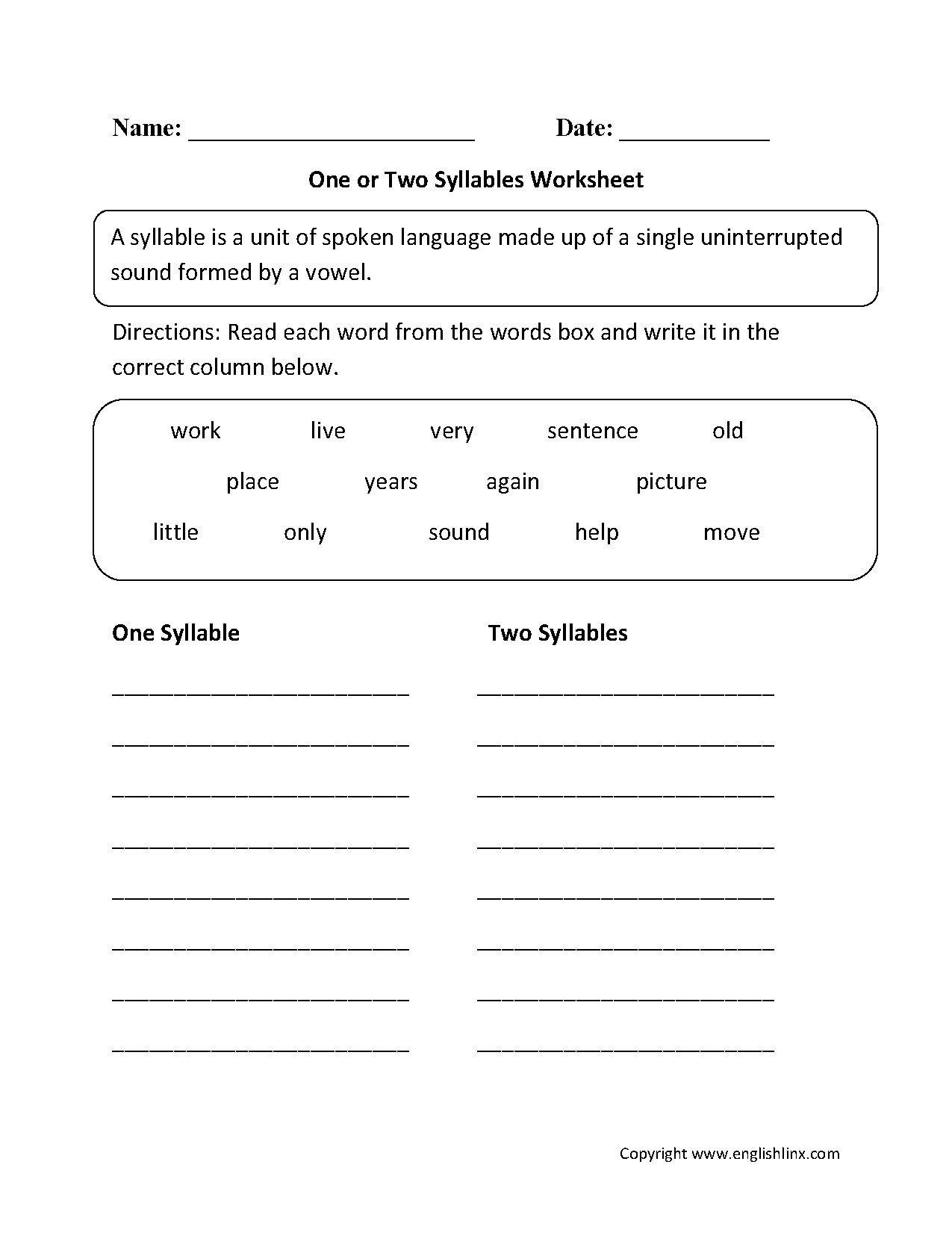 30 Open And Closed Syllable Worksheets