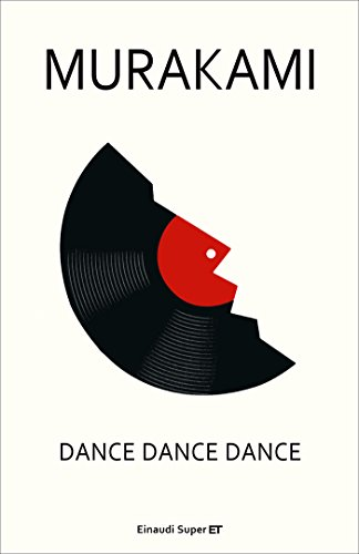 One of Murakami's other novels, Dance Dance Dance. Broken record on a white background