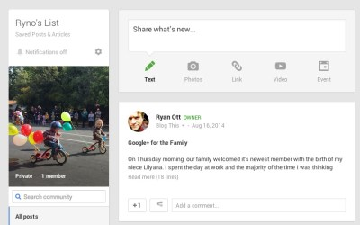 How To: Save Posts and Articles on Google+ with a Private Community
