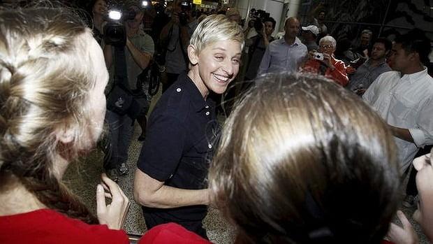 Ellen touches down in Melbourne