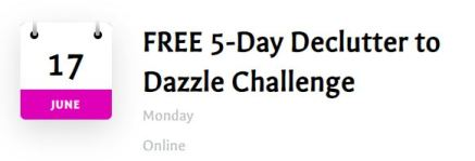 declutter to dazzle 5-day challenge promo