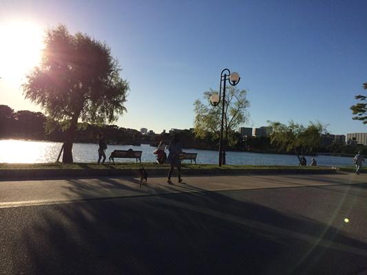大濠公園夕日