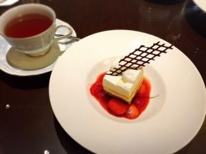 リッツカールトン大阪ロビーラウンジランチプレートのデザート