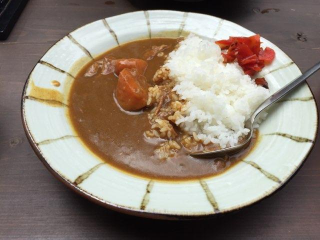 徳沢園カレー