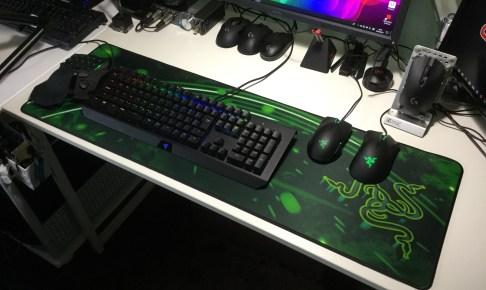 ゲーミングキーボード 大型マウスパッド