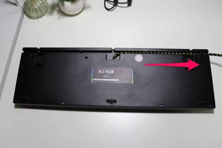 Xtrfy K2-RGB 右配線