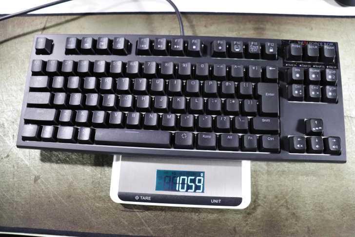 Realforce RGB TKL 重量