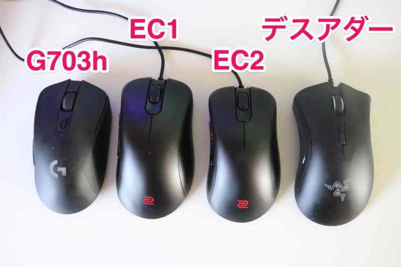 他社IE3.0クローンマウスとの比較画像
