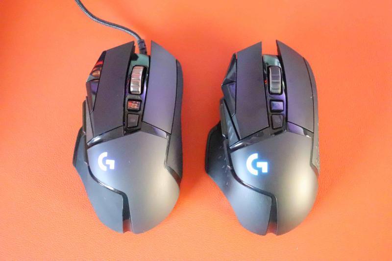 「G502WL」と「G502 HERO」の比較画像(俯瞰視点)