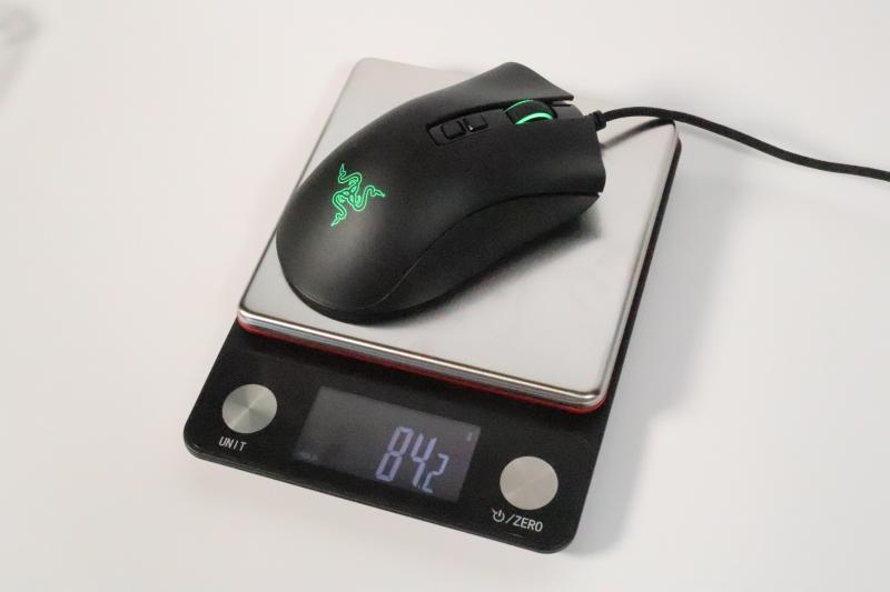 「DeathAdder V2」の重量測定