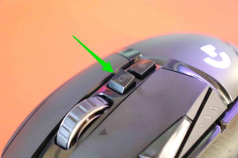 「G502WL」の高速ホイール切り替えボタン