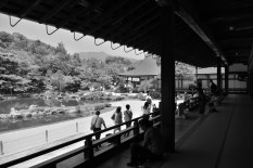 天龍寺の庭を堪能といきたいが、外国人観光客でごった返している。