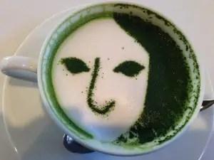 嵐山 よーじやカフェ 抹茶ラテ