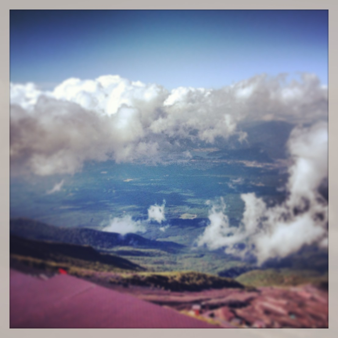 looking down from Mount Fuji