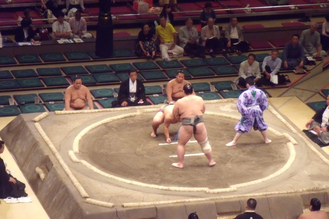 grand sumo tournament in Tokyo