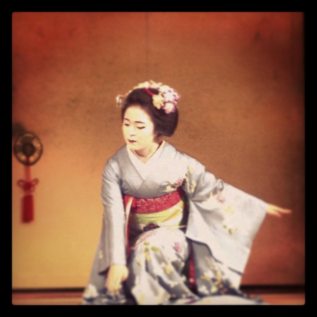 maiko performabce in Kyoto
