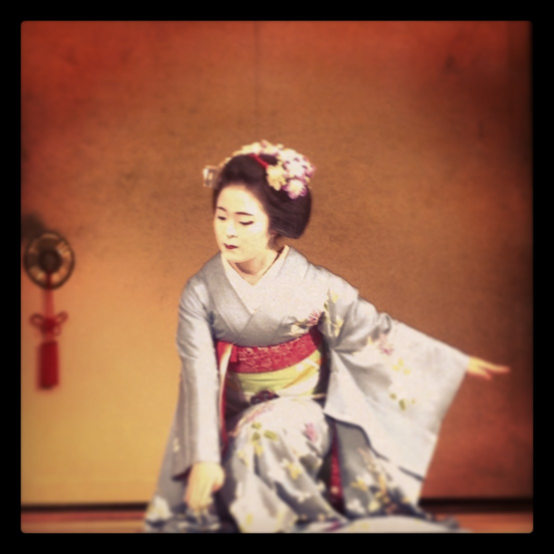 maiko performabce in Kyoto
