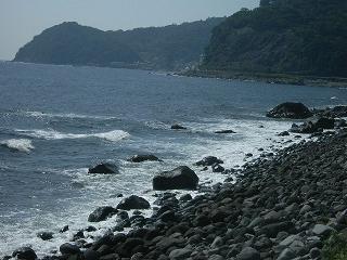 大川の海岸線