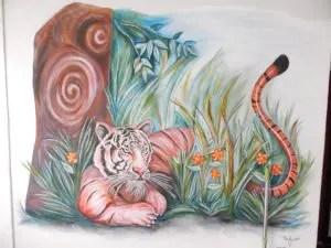 チェンマイのCumpunGueshouseの壁画
