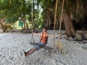 タイのクラビのホン島