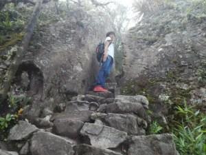 マチュピチュ山の登山道