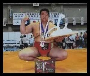 北勝富士,相撲,力士,高校時代