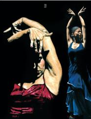 Seclusion del Flamenco and Bailarina a Solas del Flamenco oil paintings by Richard Young