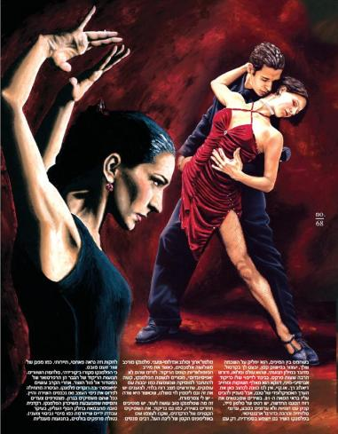 Pure Flamenco and The Passion of Tango oil paintings by Richard Young