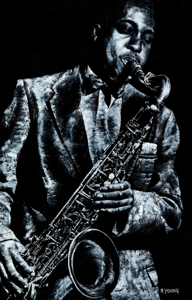 Musicians and Singers Art Gallery. Soul Jazz - Hank Mobley. Fine art original oil painting on a 91cm x 61cm stretched canvas created in 2018 using a knife. Produced in cooperation with Michael Cuscuna and Mosaic Records. Original available via Headrow Gallery, 588 Harrogate Road, Alwoodley, Leeds , West Yorkshire LS17 8DP. Contact Max on 07969575747. Framed = £1,495