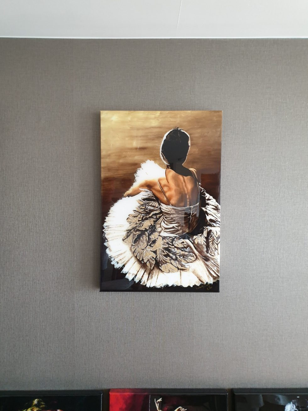 Waiting in the Wings ltd edition resin box canvas print