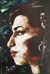 Art Event - Back to Black - Portrait of Amy