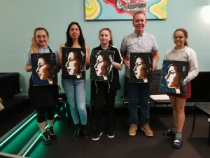 Art Event - Back to Black - A portrait of Amy - The finished paintings