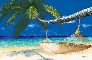 Art Event - Life's a Beach - Here's the large painting I created that we will use for reference