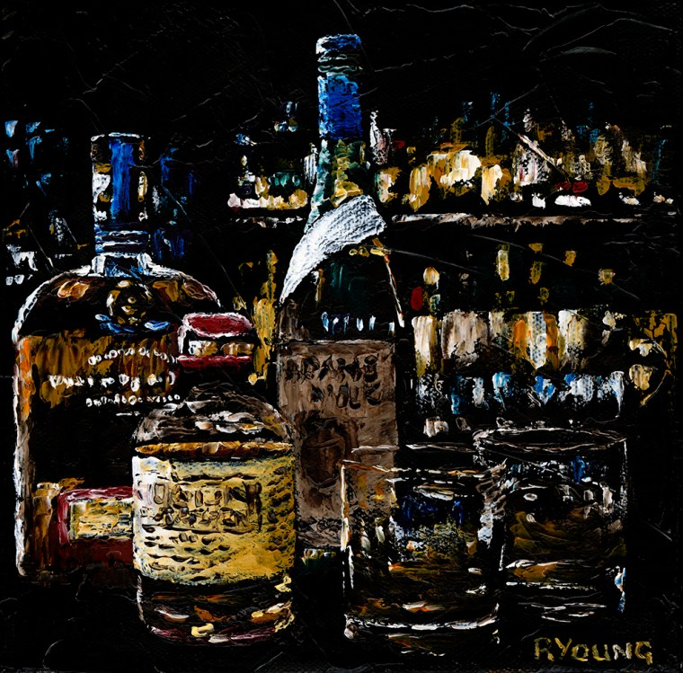 Contemporary Art Fairs Prince's Trust charity oil painting - Time to Celebrate