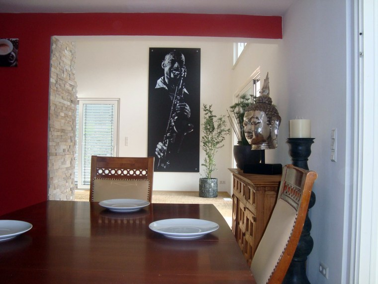 A 3.5m high feature Print hung in a customer's home in the UK