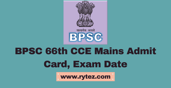BPSC 66th CCE Admit Card