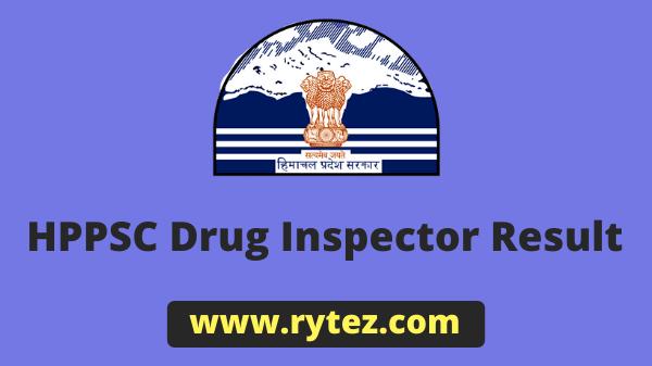 HPPSC Drug Inspector Result