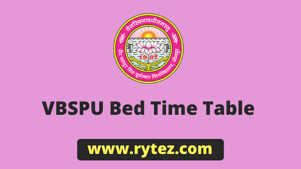 VBSPU Bed Time Table