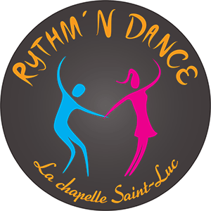 Logo Rythm N Dance rond noir