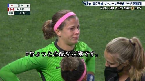 女子サッカー カナダのGK ステファニー・ラビ(べ)