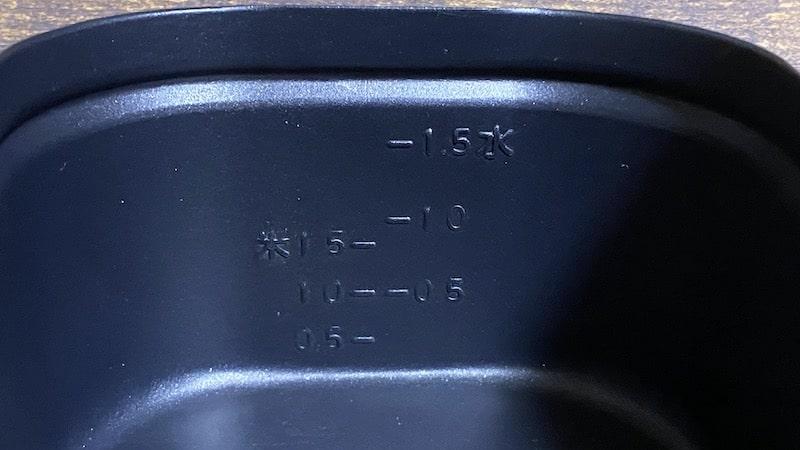 1.5合フッ素加工メスティンメモリ