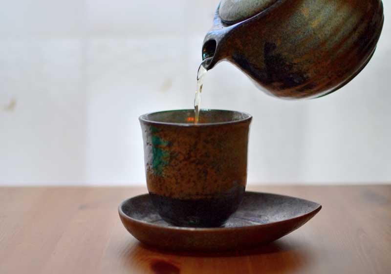 秋摘み茶と蔵出し茶